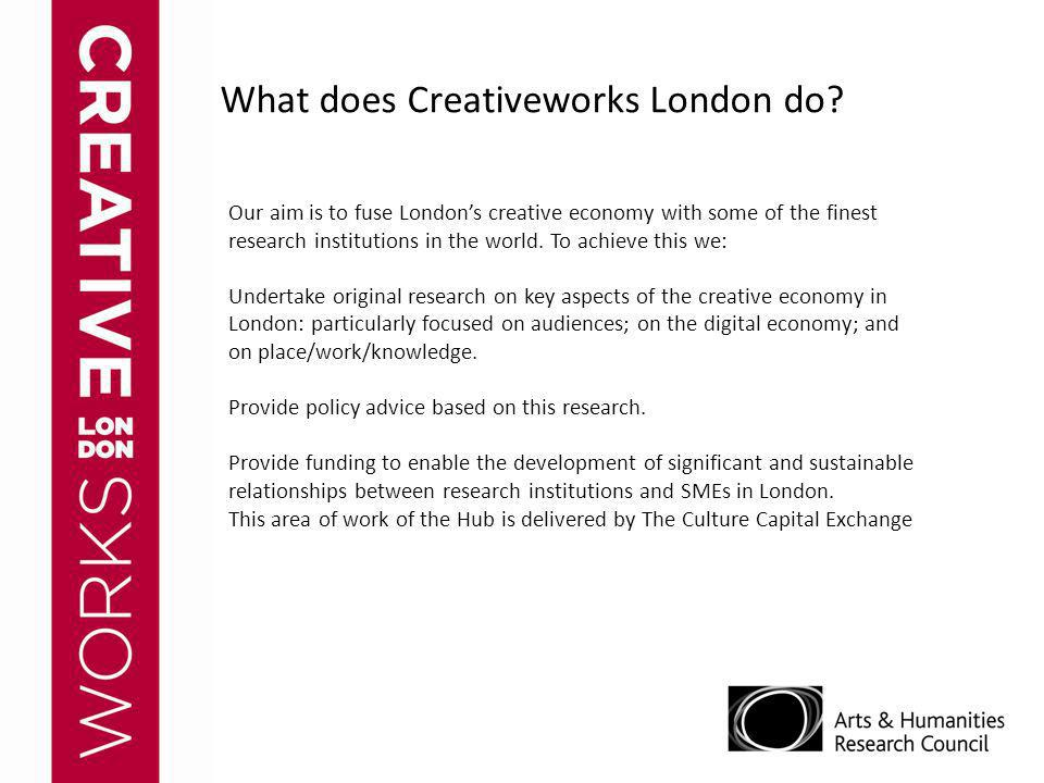 What does Creativeworks London do.