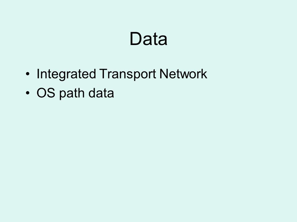 Data Integrated Transport Network OS path data