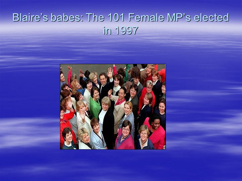Blaires babes: The 101 Female MPs elected in 1997