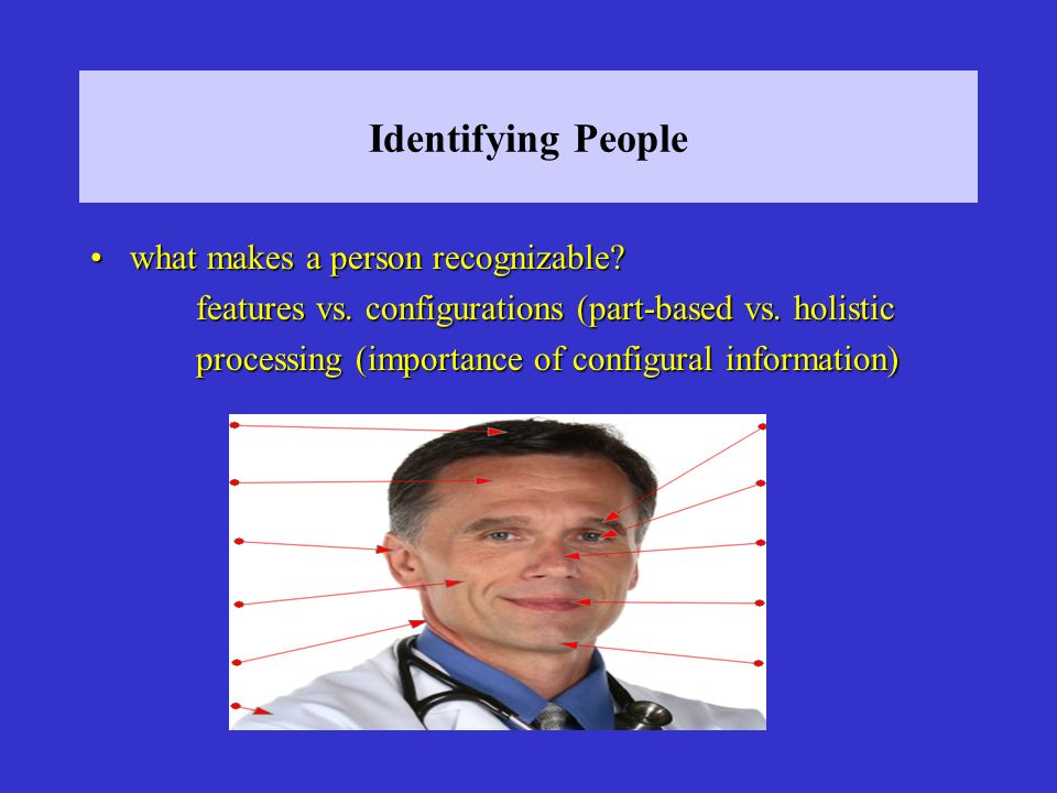Identifying People what makes a person recognizable what makes a person recognizable.