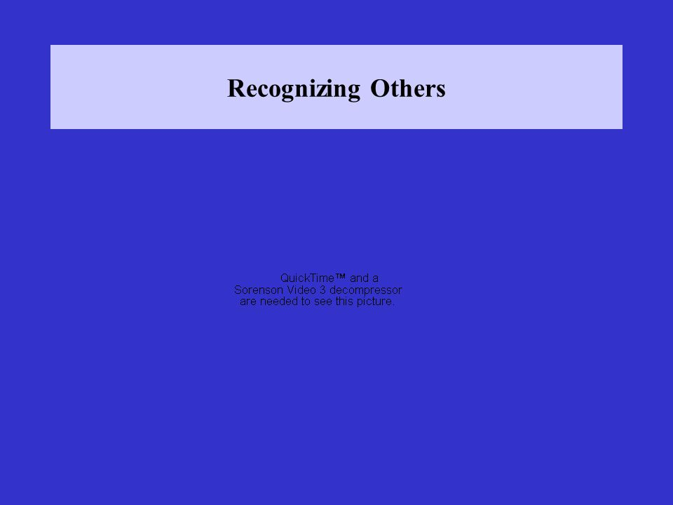 Recognizing Others