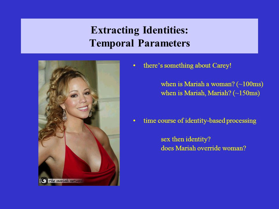 Extracting Identities: Temporal Parameters theres something about Carey.