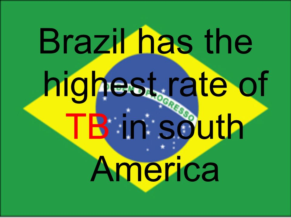 Brazil has the highest rate of TB in south America