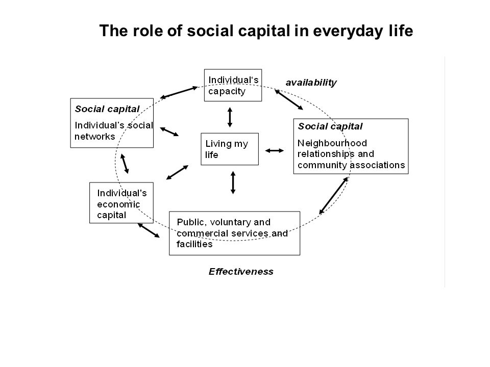 The role of social capital in everyday life