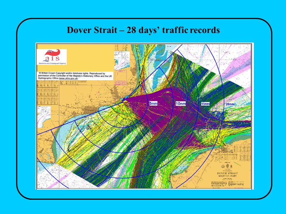 Dover Strait – 28 days traffic records
