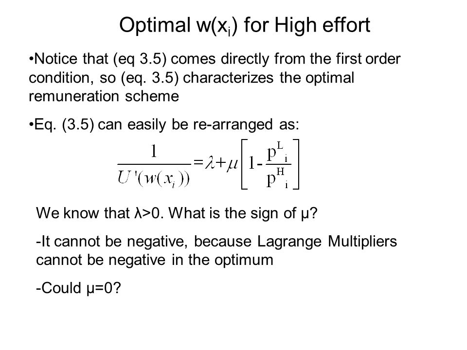 Notice that (eq 3.5) comes directly from the first order condition, so (eq.