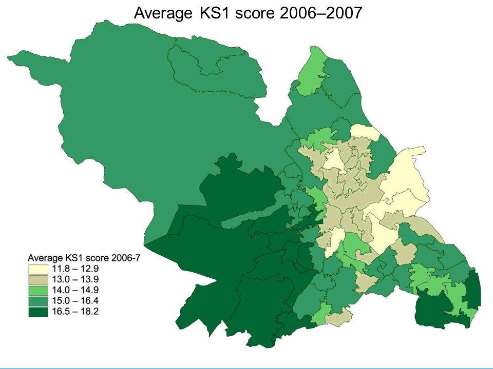 Average KS1 score 2006–2007