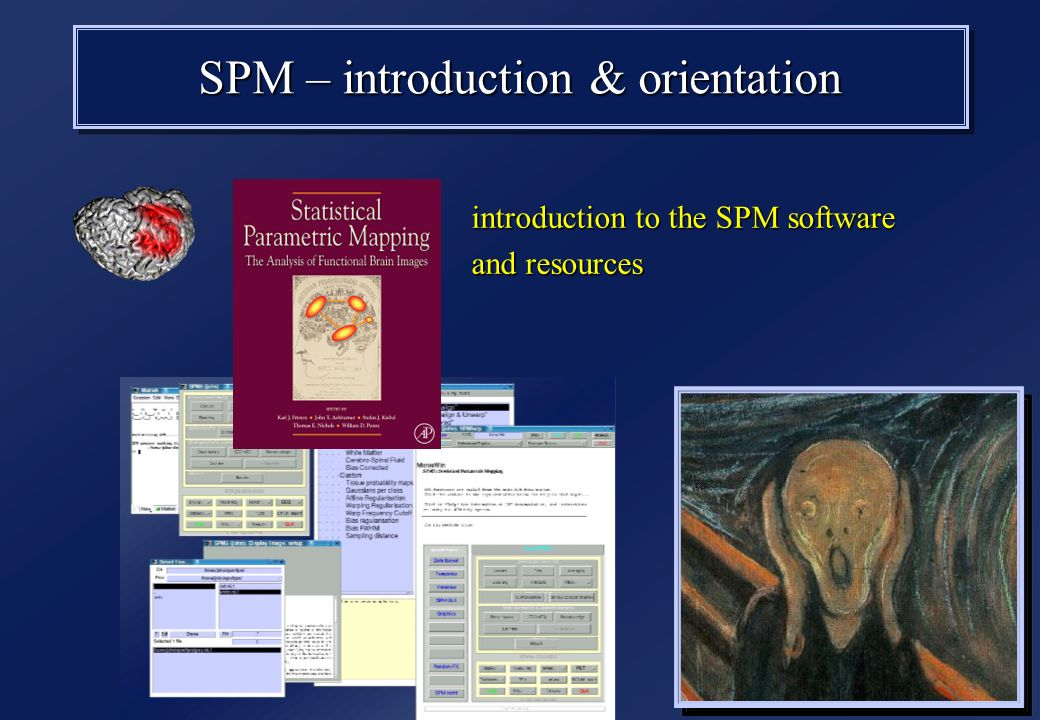 SPM – introduction & orientation introduction to the SPM software and resources introduction to the SPM software and resources