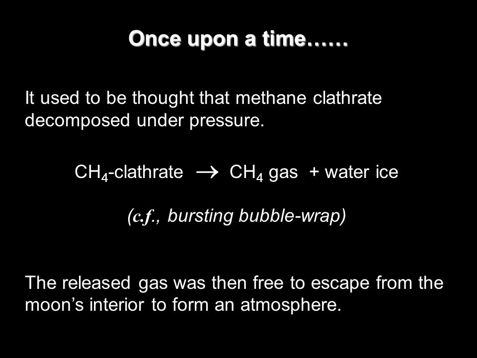 How did methane get into Titan to begin with.