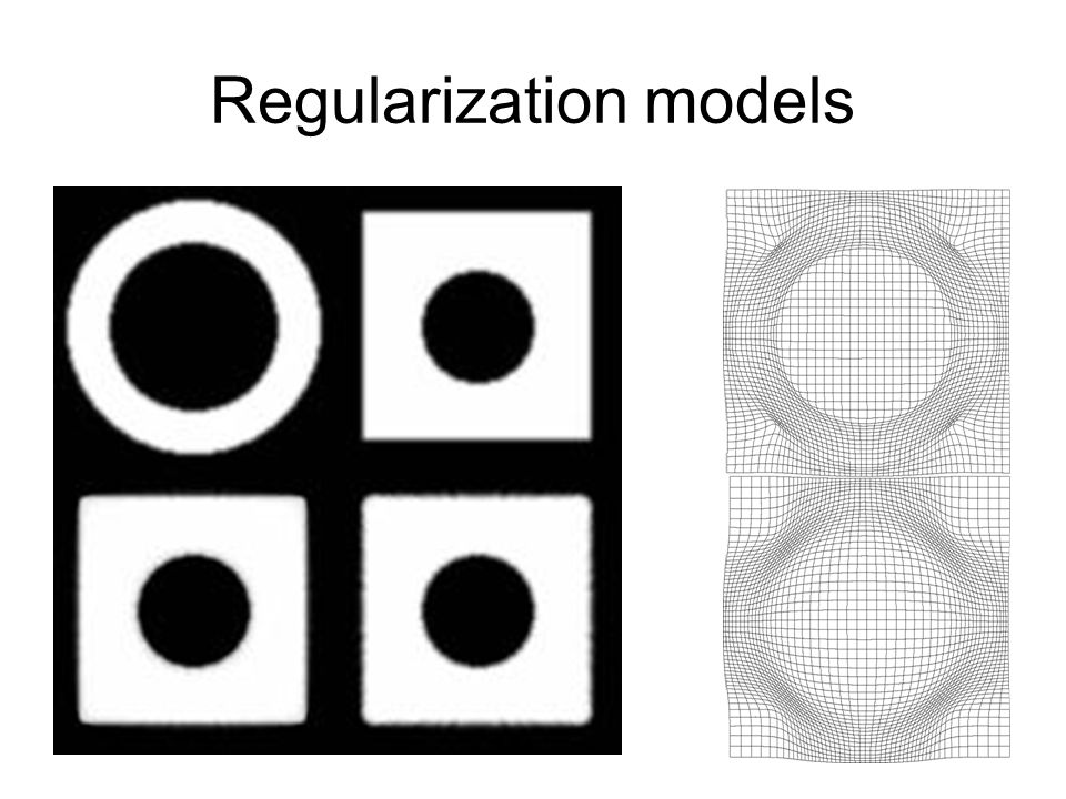 Regularization models