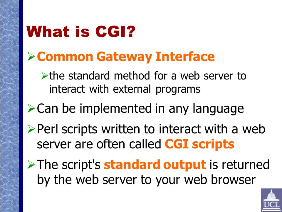 What is CGI.