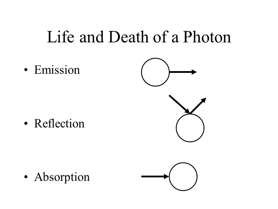 Life and Death of a Photon Emission Reflection Absorption