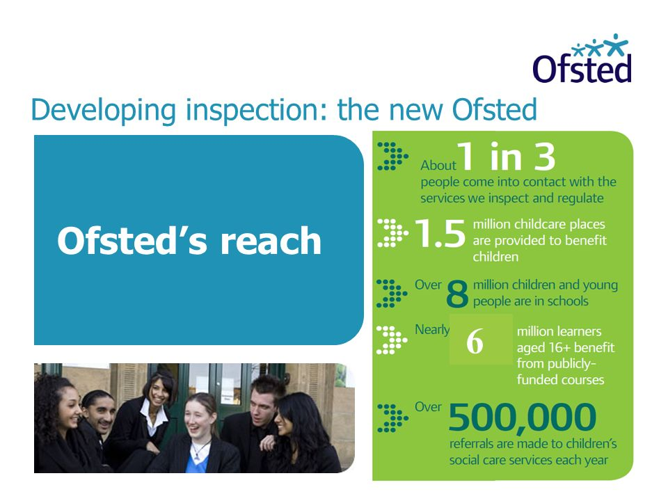 Developing inspection: the new Ofsted Ofsteds reach 6