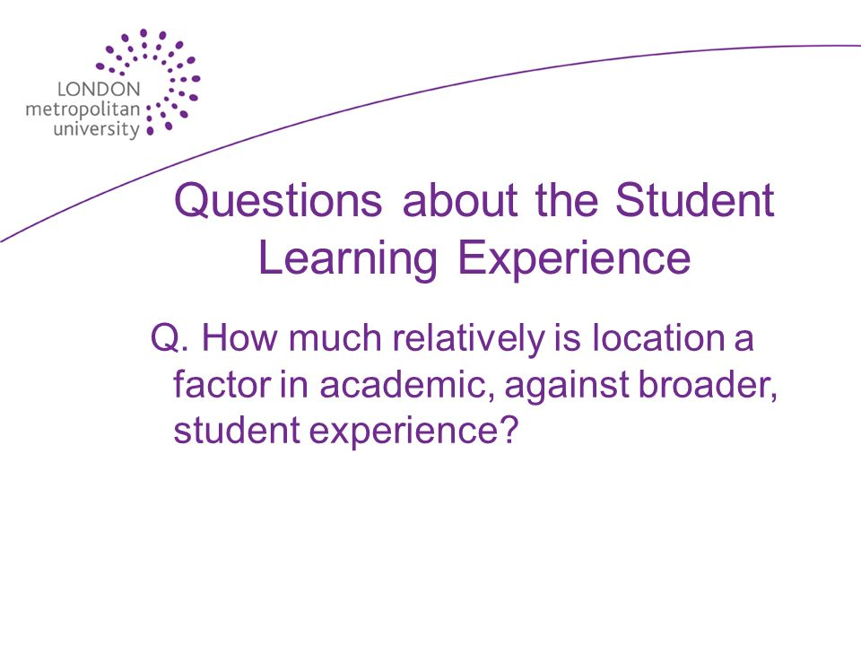 Questions about the Student Learning Experience Q.