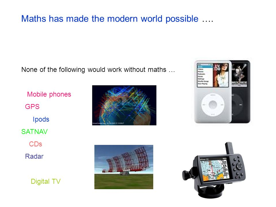 Maths has made the modern world possible ….