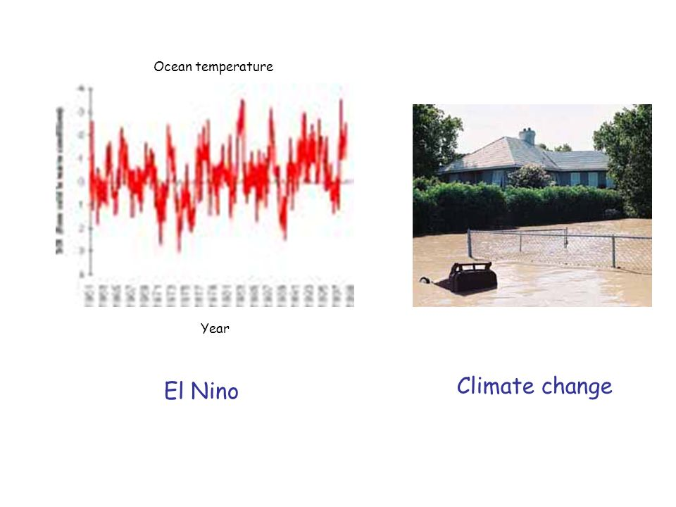 El Nino Ocean temperature Year Climate change