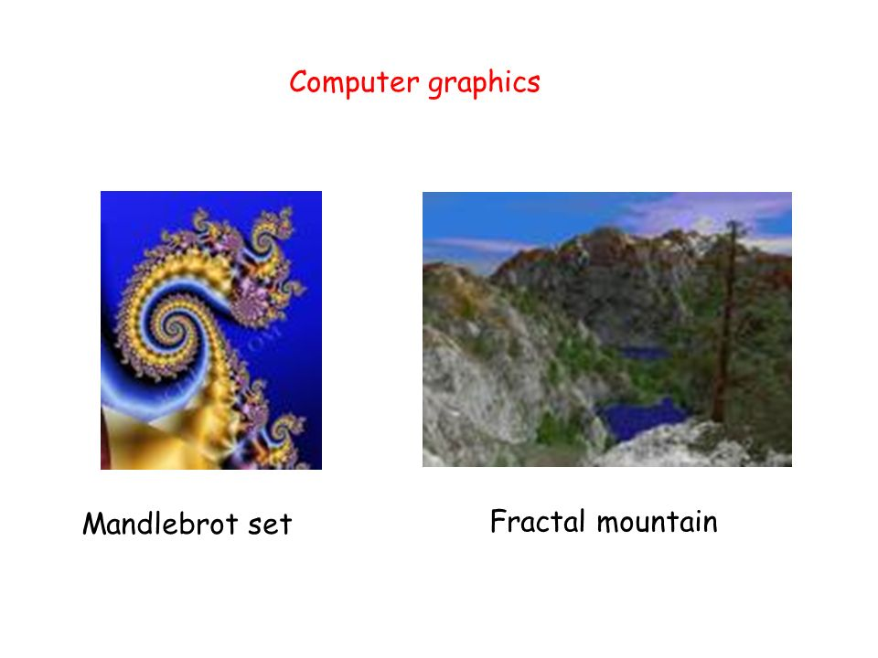 Mandlebrot set Fractal mountain Computer graphics