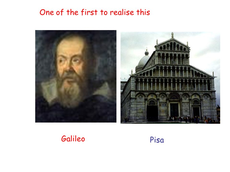 Galileo Pisa One of the first to realise this