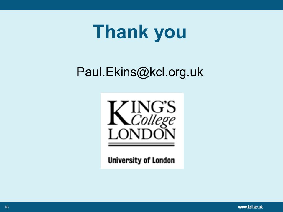 18 Thank you Paul.Ekins@kcl.org.uk