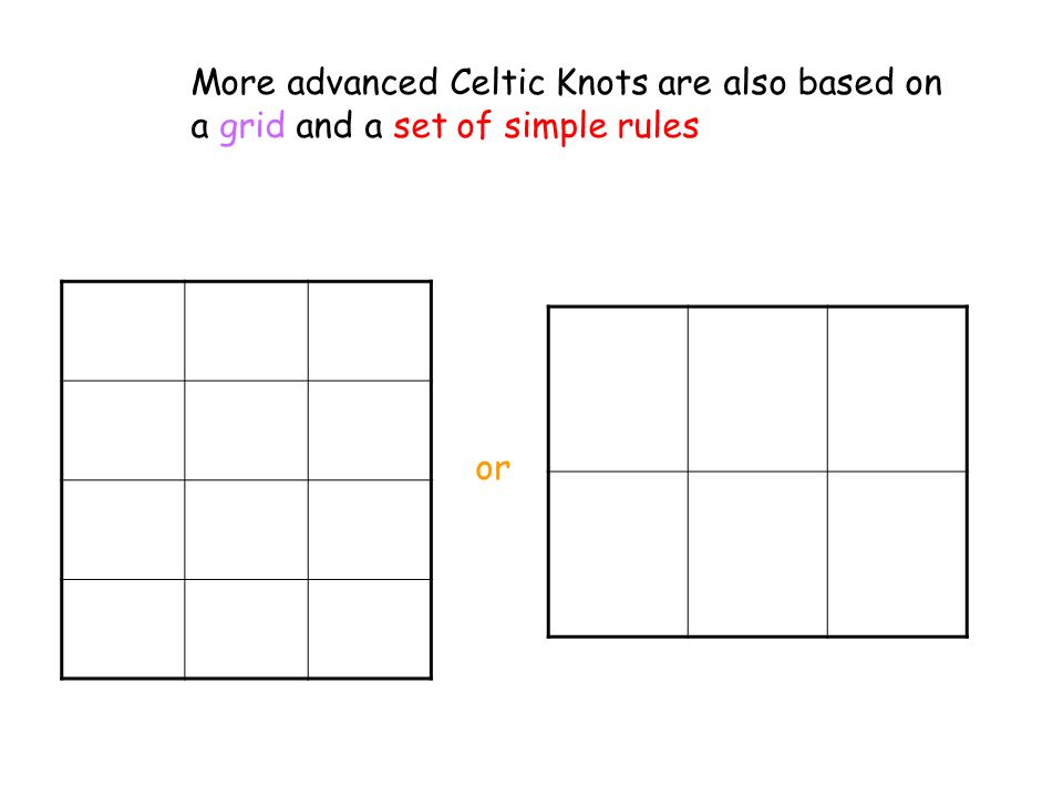 More advanced Celtic Knots are also based on a grid and a set of simple rules or