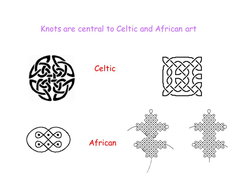 Knots are central to Celtic and African art Celtic African