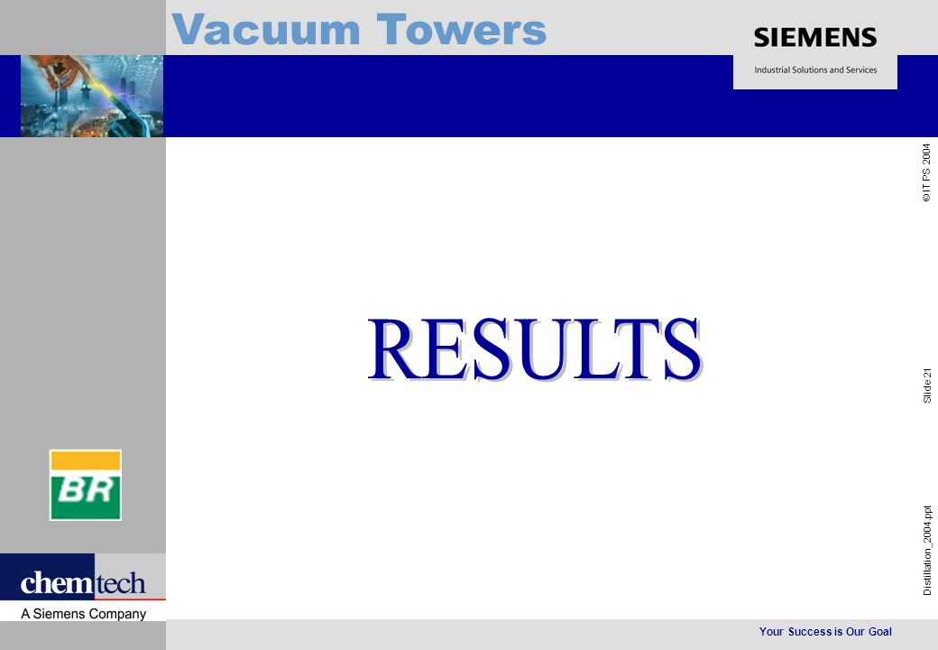 Your Success is Our Goal Distillation_2004.ppt Slide 21 © IT PS 2004 Vacuum Towers