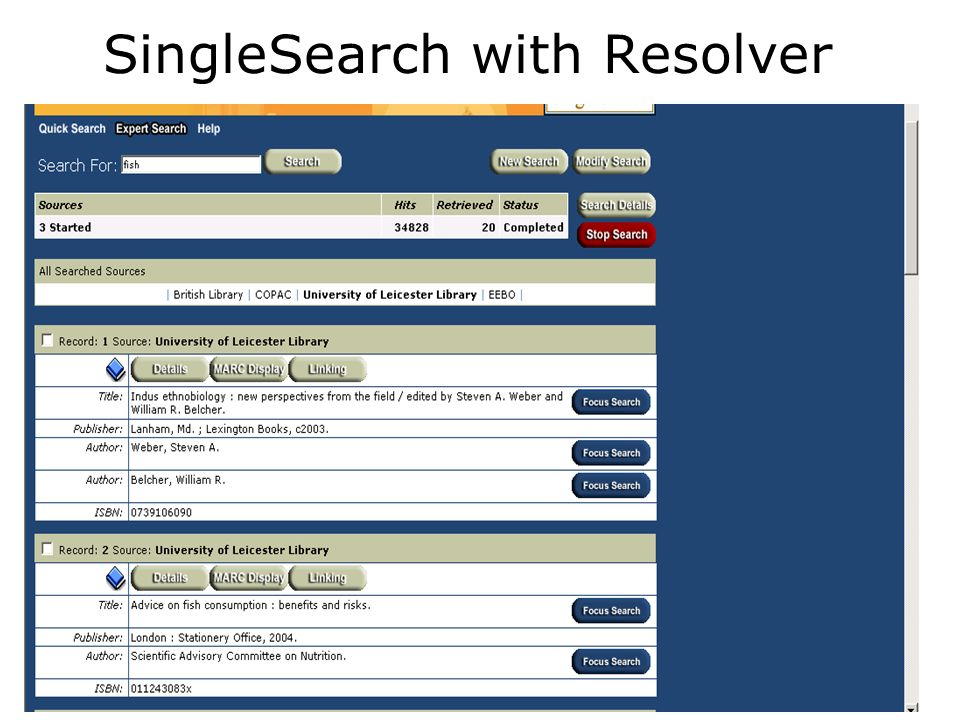 SingleSearch with Resolver