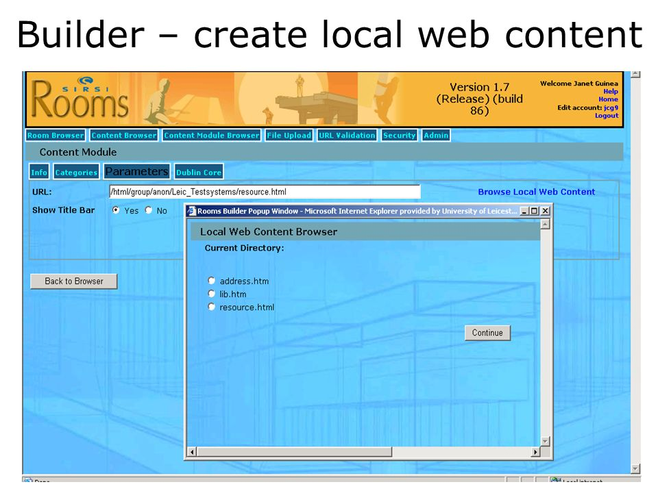 Builder – create local web content