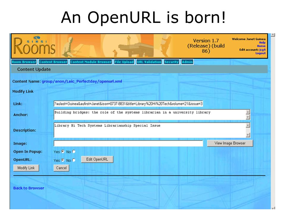 An OpenURL is born!