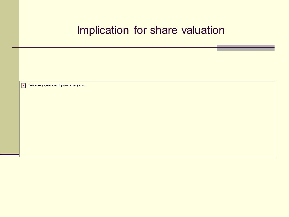 Implication for share valuation