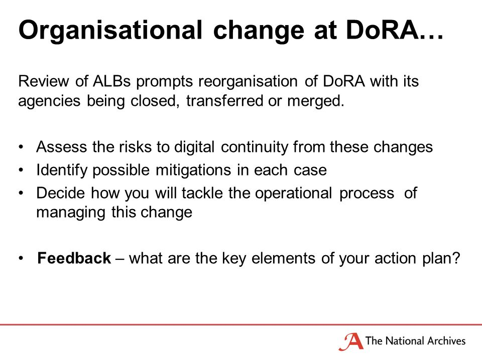 Organisational change at DoRA… Review of ALBs prompts reorganisation of DoRA with its agencies being closed, transferred or merged.