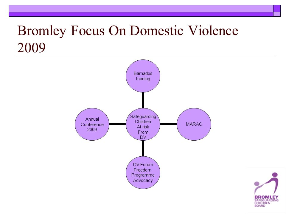 Bromley Focus On Domestic Violence 2009 Safeguarding Children At risk From DV Barnados training MARAC DV Forum Freedom Programme Advocacy Annual Conference 2009