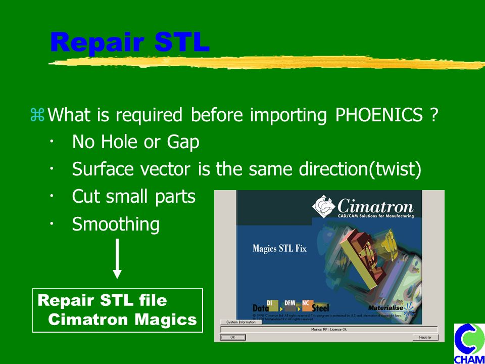 Repair STL What is required before importing PHOENICS .
