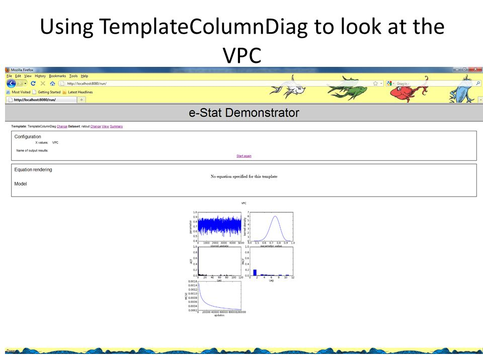 Using TemplateColumnDiag to look at the VPC