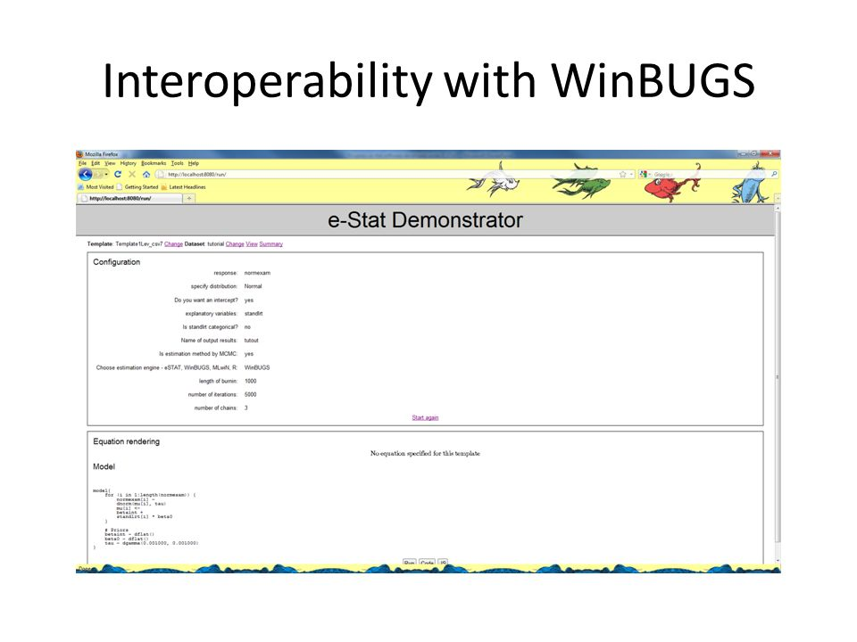 Interoperability with WinBUGS