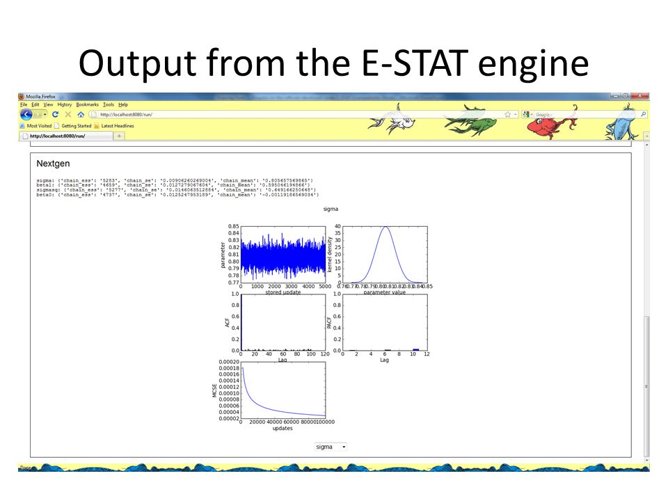 Output from the E-STAT engine