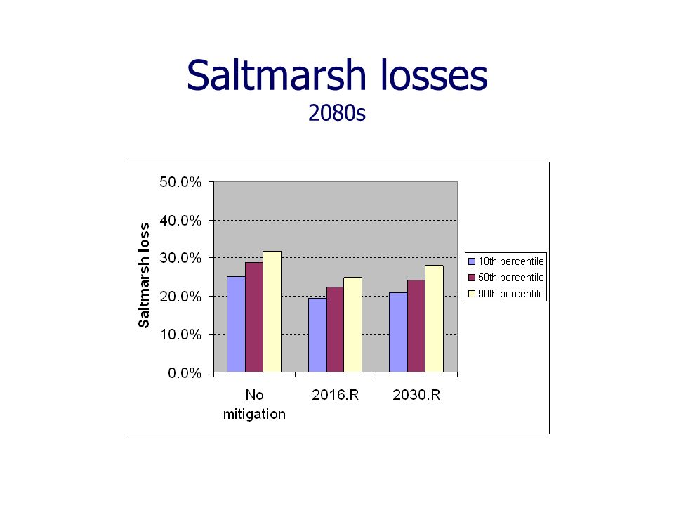 Saltmarsh losses 2080s
