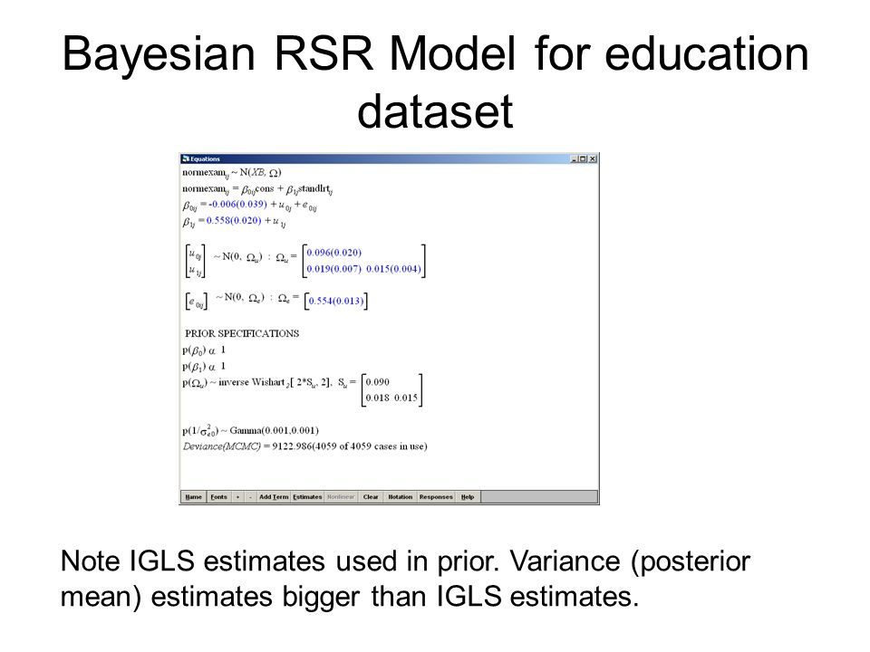 Lecture 9 Model Comparison using MCMC and further models