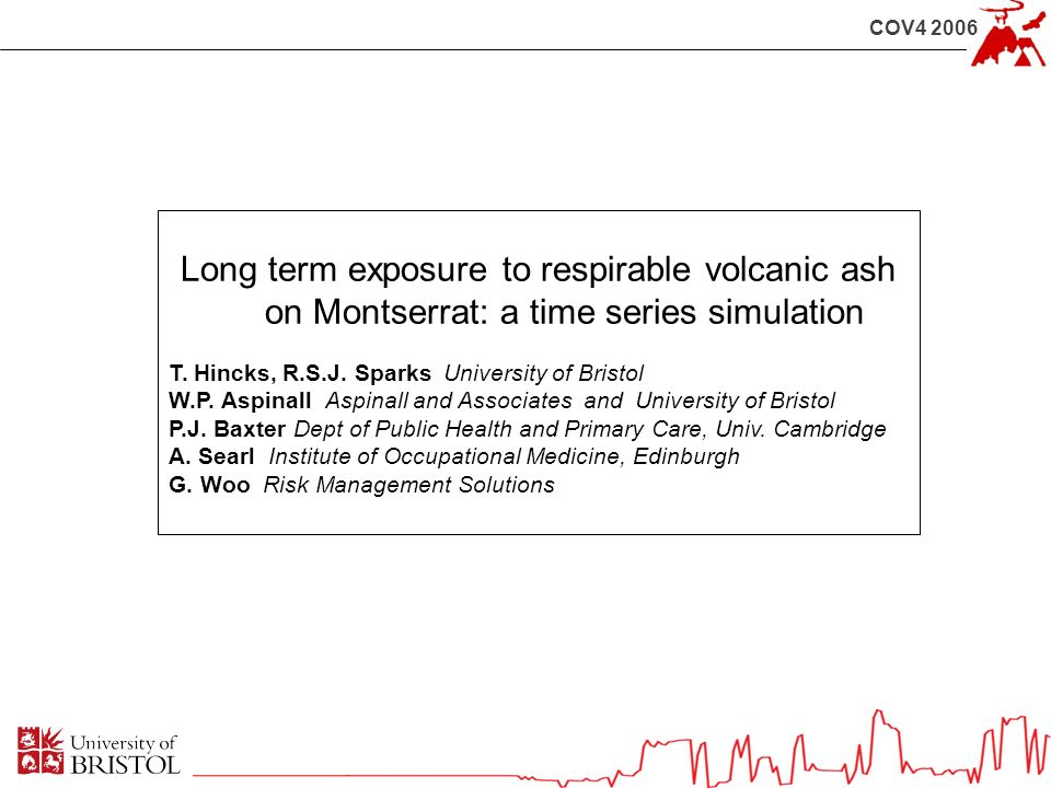COV4 2006 Long term exposure to respirable volcanic ash on Montserrat: a time series simulation T.