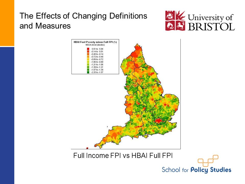 The Effects of Changing Definitions and Measures Full Income FPI vs HBAI Full FPI