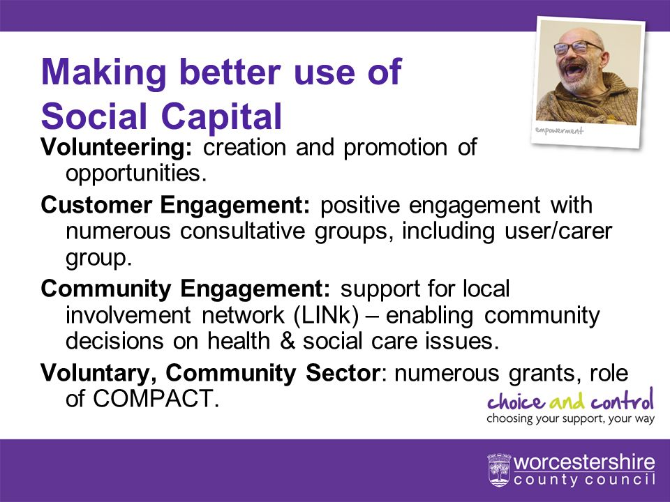 9[Slideshow Title - edit in Headers & Footers] Making better use of Social Capital Volunteering: creation and promotion of opportunities.