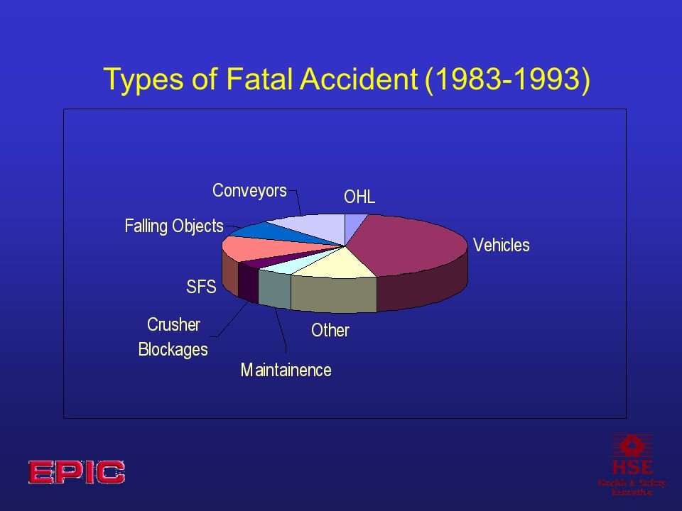 Types of Fatal Accident (1983-1993)