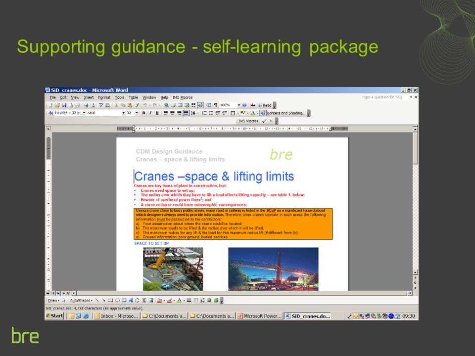 Supporting guidance - self-learning package