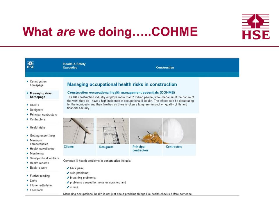 What are we doing…..COHME