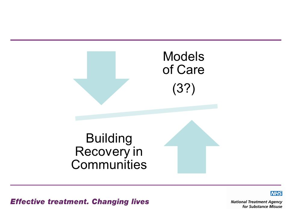 Models of Care (3 ) Building Recovery in Communities