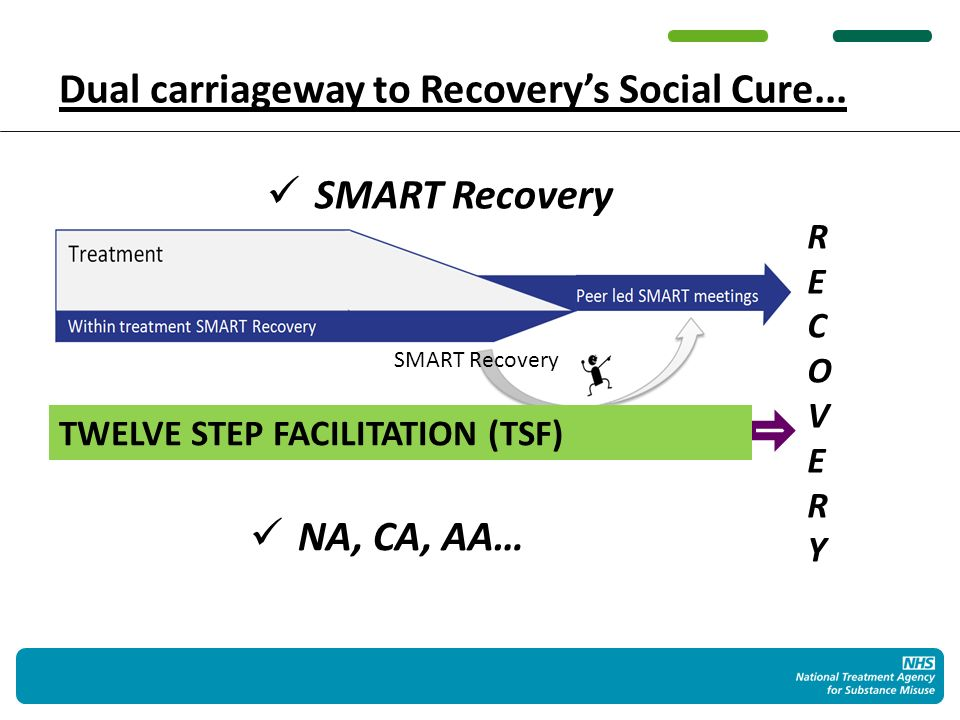 TWELVE STEP FACILITATION (TSF) Dual carriageway to Recoverys Social Cure...