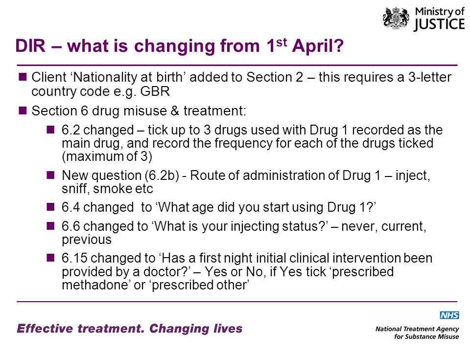 DIR – what is changing from 1 st April.