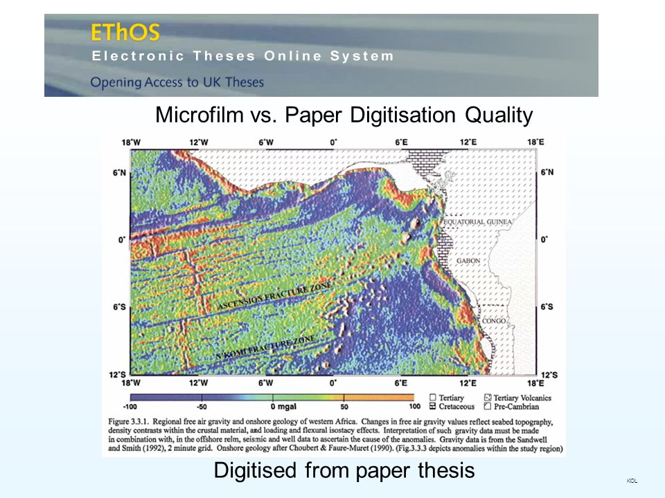 Microfilm vs. Paper Digitisation Quality Digitised from paper thesis KOL