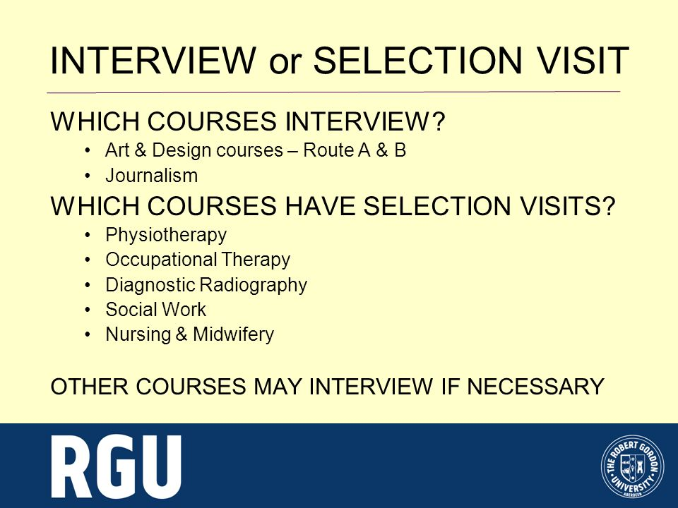 WHICH COURSES INTERVIEW.
