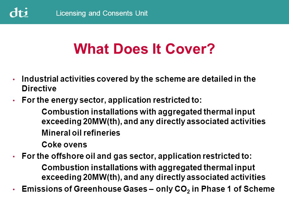 Licensing and Consents Unit What Does It Cover.